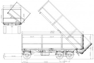 Bodex K-3W 30-40 m3 Прицеп самосвальный
