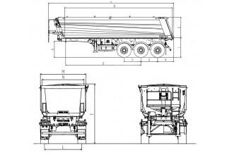 Wielton NW 3 S 38 HP M4 Полуприцеп самосвальный стальной