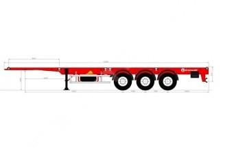 Grunwald Универсальный усиленный полуприцеп-контейнеровоз
