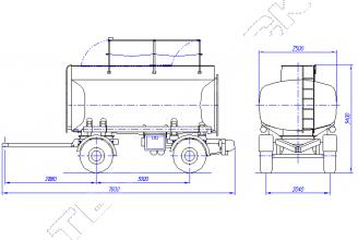 КАПРИ 8626 (ПЦ-15) Прицеп цистерна