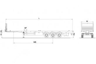 Kassbohrer K.SPA 3 Extendable Platform Полуприцеп платформа