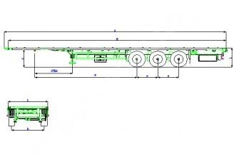 Wielton NS 3 K0 Mega Полуприцеп платформа