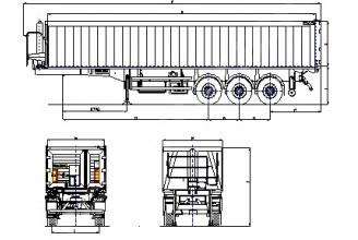 Wielton NW 3 A 55 PD (NW 57 AB/D) Полуприцеп самосвальный алюминиевый