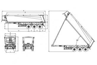 Wielton NW 3 S 33 HP (12т оси) Полуприцеп самосвальный стальной