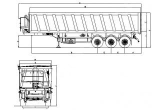 Wielton NW 3 S 48 PD-Z Полуприцеп самосвальный стальной