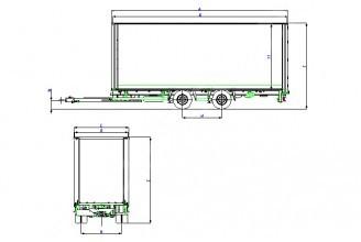 Wielton PC 16 FT & FB Прицеп шторный c центральным расположением осей
