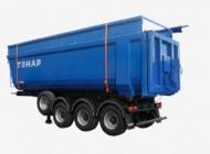 Тонар-9523-0000020-15 Самосвальный полуприцеп с надставными бортами для перевозки легковесных сыпучих грузов
