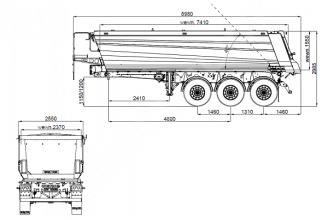 Wielton NW 3 S 26 HP Konisch Полуприцеп самосвальный стальной
