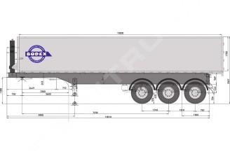 Bodex KIS 3WА 24-60 m3 Полуприцеп самосвальный алюминиевый