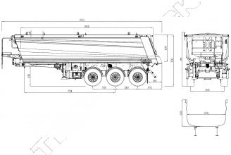 Wielton NW 3 S 30 HP M4 Полуприцеп самосвальный стальной