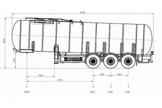 AMS-NN ППЦ-30Т 30m3 полуприцеп цистерна