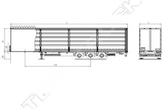 Kassbohrer Maxima XS International полуприцеп шторный бортовой