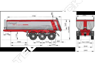 Carnehl Hardox CHKS34HG 28-30 m3 Полуприцеп самосвальный стальной