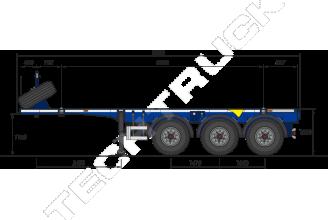 Grunwald Gr-VCSt 20ft Полуприцеп контейнеровоз
