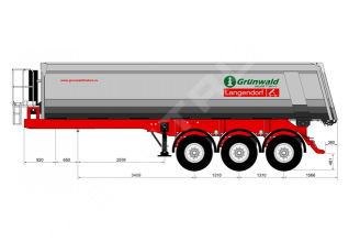 Grunwald TSt 31 Самосвальный полуприцеп