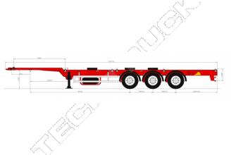 Grunwald 9453-0000010-30 Универсальный низкорамный полуприцеп-контейнеровоз