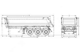 Kogel SKM 27m3 самосвальный стальной полуприцеп