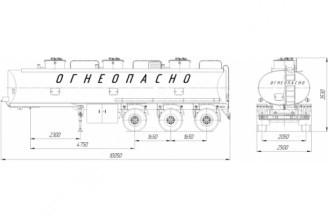 НЕФАЗ–96931-10-07 Полуприцеп цистерна (Топливоперевозчик)