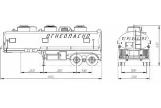 НЕФАЗ–96742–10-03 Полуприцеп цистерна (Топливоперевозчик)