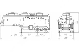 НЕФАЗ–96742-10 Полуприцеп цистерна (Топливоперевозчик)