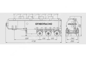 НЕФАЗ-96895-10 Полуприцеп цистерна (Топливоперевозчик)