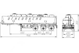 НЕФАЗ–9693-10 Полуприцеп цистерна (Топливоперевозчик)