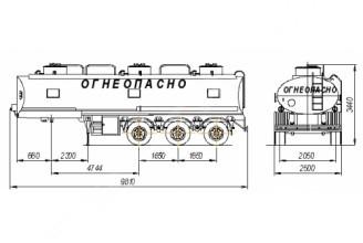 НЕФАЗ–96931-10-02 Полуприцеп цистерна (Топливоперевозчик)