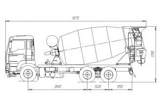 Tigarbo 9DO на шасси MAN TGA 33.360 6х4 Автобетоносмеситель