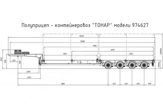 Тонар-974627-0000010 Полуприцеп-контейнеровоз