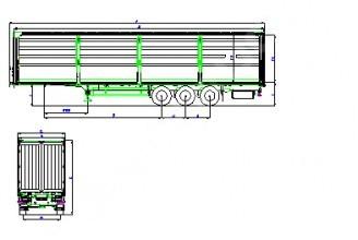 Wielton NS 3 K Mega 950mm Полуприцеп шторный