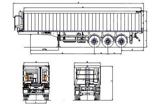 Wielton NW 3 A 50 PD (NW 57 AB/KD) Полуприцеп самосвальный алюминиевый