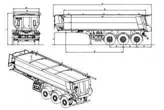 Wielton NW 3 S 24 HP (NW 24 SB/K /HP) Полуприцеп самосвальный стальной