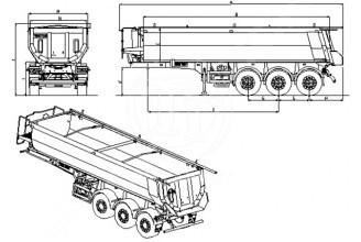 Zaslaw Half-Pipe 25м3 (стальной) Полуприцеп самосвальный