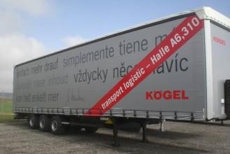 Kogel Mega SN 24 P 90/910 Шторный полуприцеп